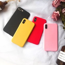 Candy Color Phone Case for IPhone X Xr Xs MAX 5 5S SE Case Soft TPU Protective Cover for Iphone 7 8 Plus 6 6s Silicon Case Shell стоимость