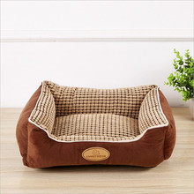 Кукурузная бархатная большая кровать для домашних животных, теплый диван для домашних животных со съемной подушкой, гнездо для домашних животных, корзины для собак, нескользящая зимняя Конура, размеры s, m, l