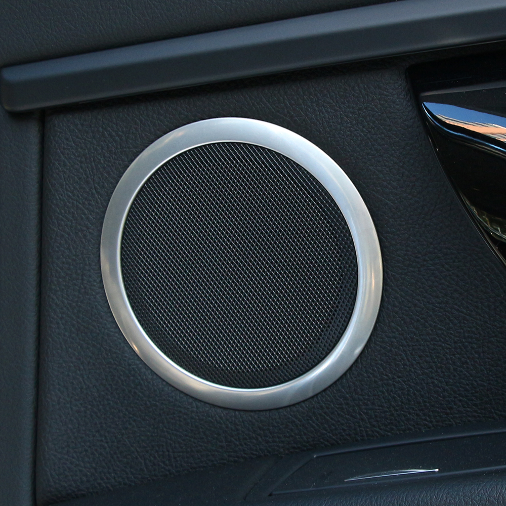 Car accessories interior door stereo speaker ring chrome trim cover for bmw 3 series f30