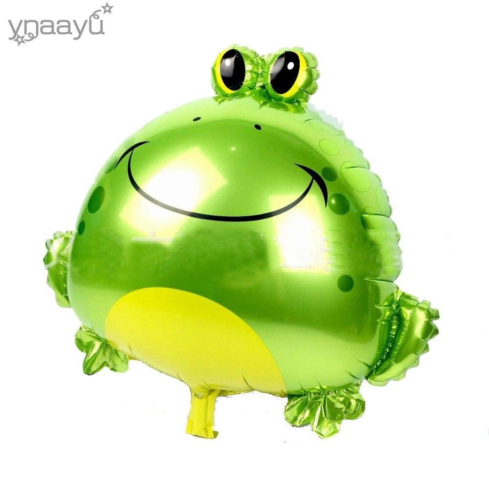 Ynaayu 1ks Frog Hliníková fólie balón 64 * 63cm Cartoon balónky pro děti Baby hračky Narozeniny Party Decaration