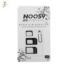 Noosy 4 в 1 Nano sim-карта для Micro SIM Nano Micro для Mini SIM адаптер для Iphone 8 7 samsung S8 sim-карта адаптер 500 компл./лот