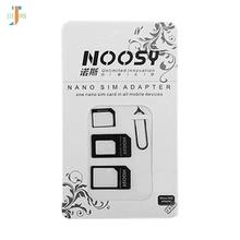 Noosy 4 w 1 Nano karty SIM do Micro SIM Nano mikro- małych i Mini Sim Adapter do telefonu Iphone 8 7 samsung S8 adaptera karty Sim 500 zestawów partia tanie tanio Dwóch kart sim akcesoria garnitur 4 In 1 sim card adapter