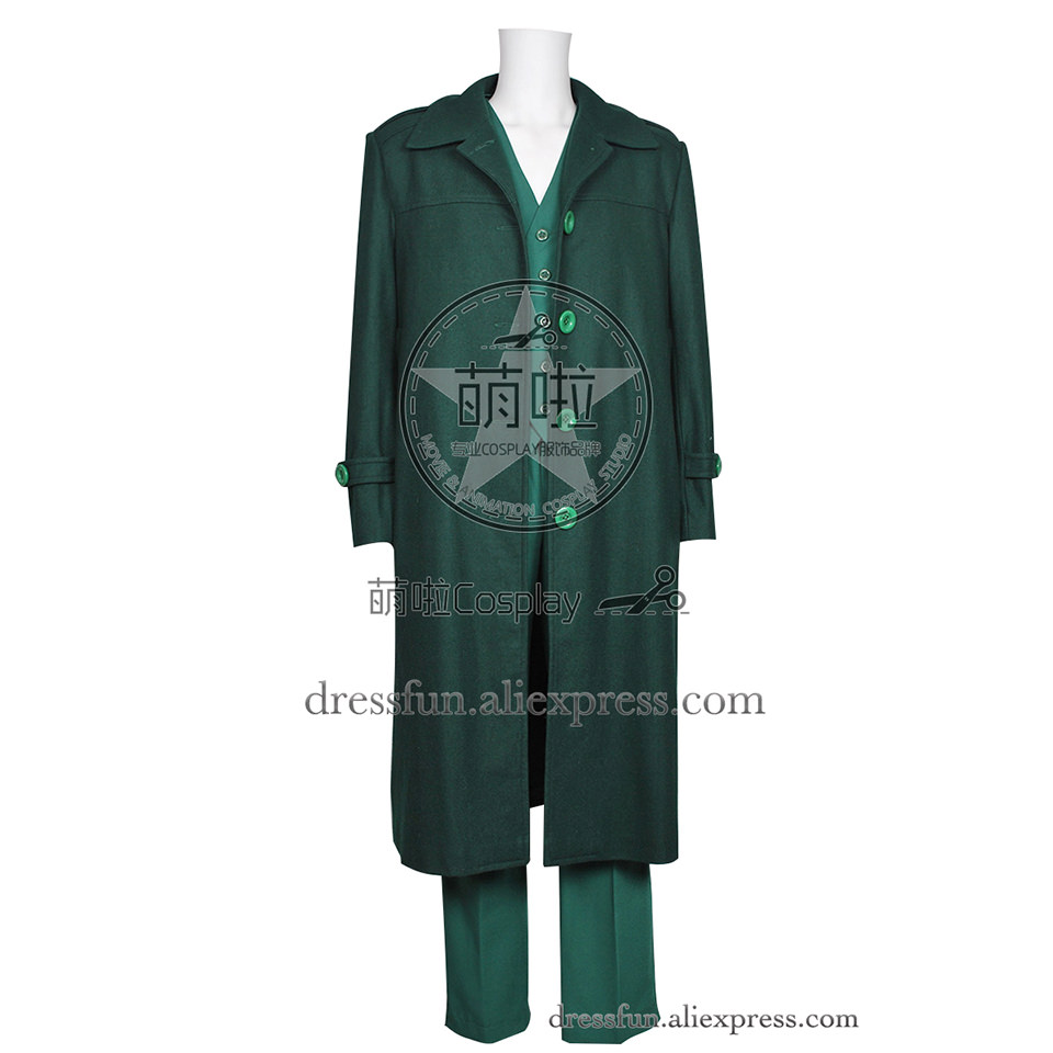 The Green Hornet Cosplay Britt Reid Costume Green Trench Coat Outfits Full Set Clothing Halloween Fast Shipping Cool Party