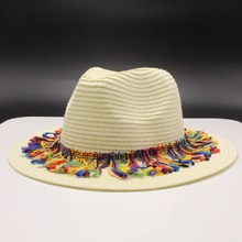 Breathable Hollow Out Big Large Brim women Straw Hats Beach Sun Hat Adjustable Jazz Fedora Cap Male Summer Panama