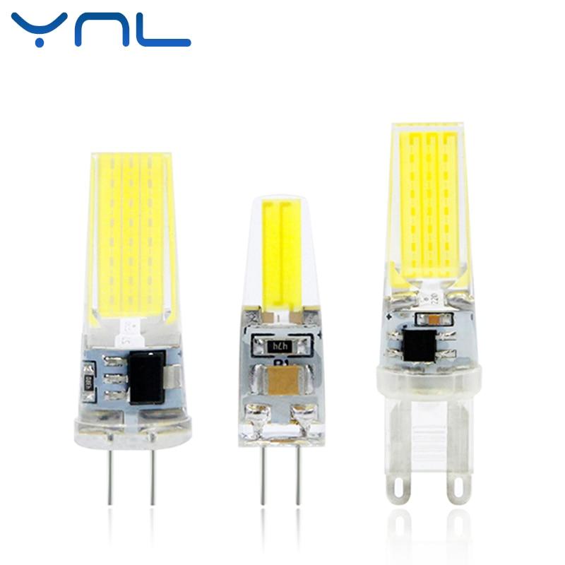 YNL Dimmable LED Lamp G4 G9 AC / DC 12V 220V 6W 9W Mini COB LED G4 G9 Bulb 360 Beam Angle Replace Halogen Chandelier Lights ynl g4 led lamp ac dc 12v mini lampada led bulb g4 1505 cob chip light 360 beam angle lights replace 30w halogen g4 spotlight