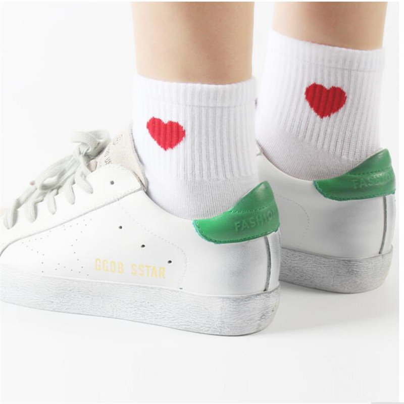 Heart Cute College Wind Simple Female   Socks   Warm Comfortable Cotton Spring And Summer Hot Sale Women   Socks