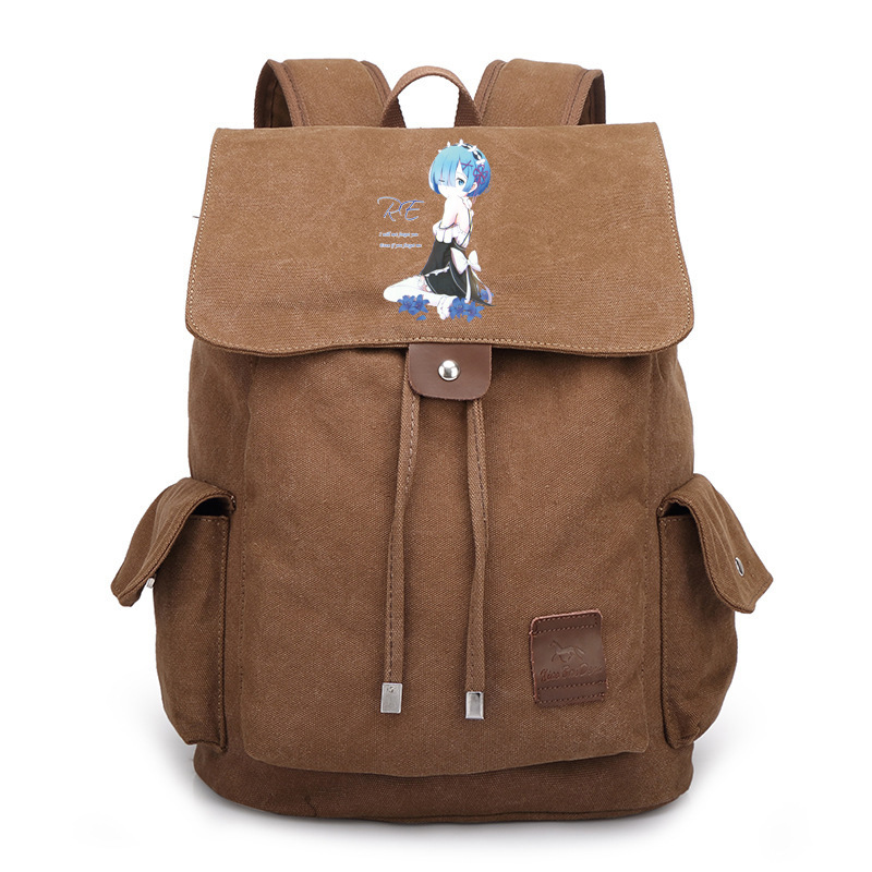 New Re Life in a different world from zero Backpack Student School Bags Boobkag Satchel Cosplay Anime Canvas Backpacks Rucksack re life in a different world from zero cosplay wallet leather pu student short coin purse