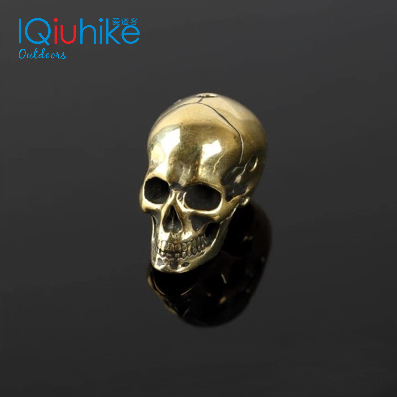 Brass Skull Knife Beads Umbrella Rope Bead Outdoor Vintage Skull Paracord Beads  Paracord Bracelet Accessories Charms Skull
