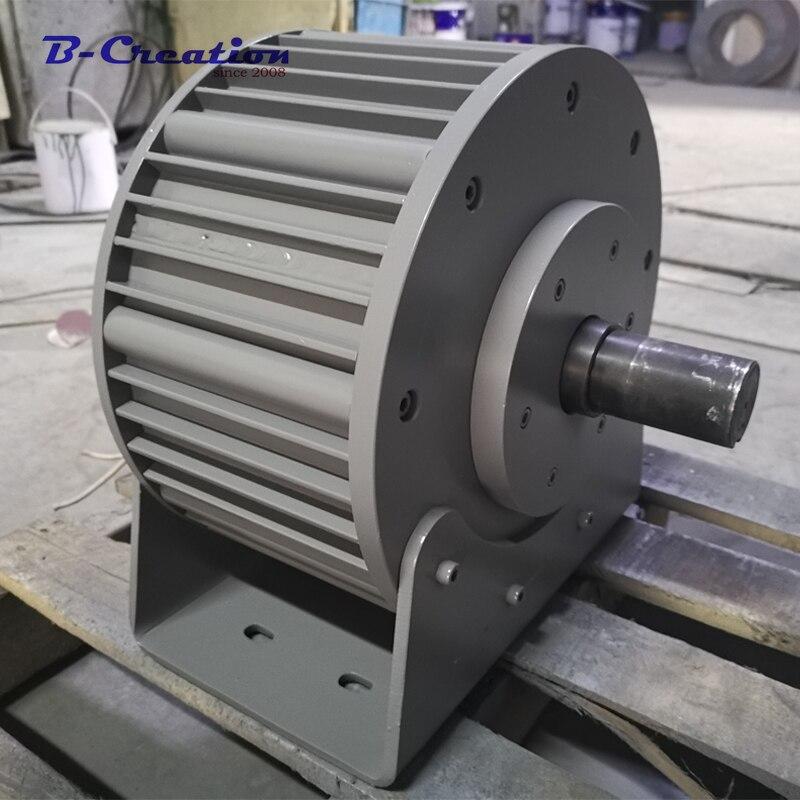 Prix d'usine 3000 w/3KW 220 v 360 v ac terre rare bas RÉGIME générateur à aimant permanent pour un usage domestique