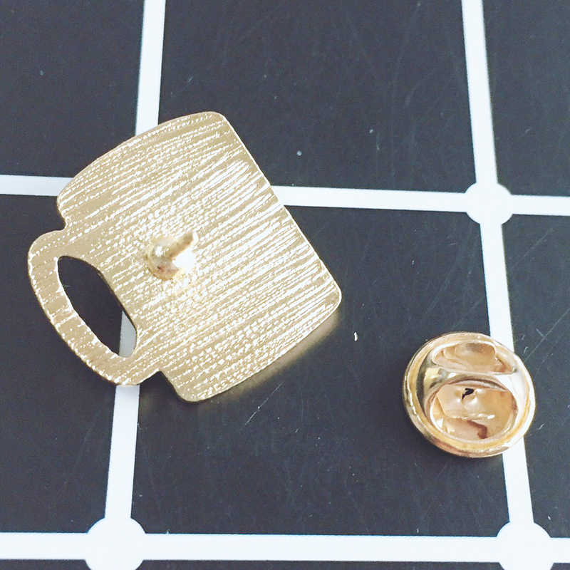 XEDZ jóias new criativo xícara de café amor alma gêmea acessórios mochila jaquetas casaco broche broche de metal pop casal presente