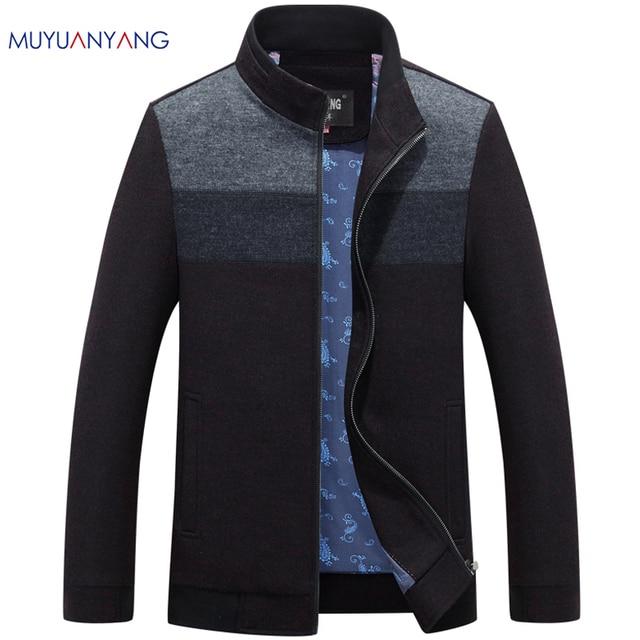 مو يوان يانغ 2020 الخريف والشتاء للذكور الصوف و خليط 50% قبالة الرجال الصوف مزيج معاطف عادية رجالي سترات صوفية معطف