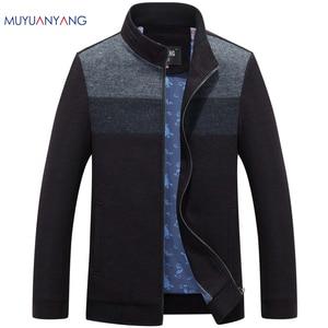 Image 1 - Mu יואן יאנג 2020 סתיו וחורף עבור זכר צמר ותערובות 50% הנחה גברים של צמר תערובת מעילים מקרית mens צמר מעילי מעיל
