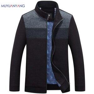 Image 1 - Mu yuan yang 2020 outono e inverno para o sexo masculino lã & misturas 50% de desconto masculino lã mistura casacos casuais dos homens casacos de lã