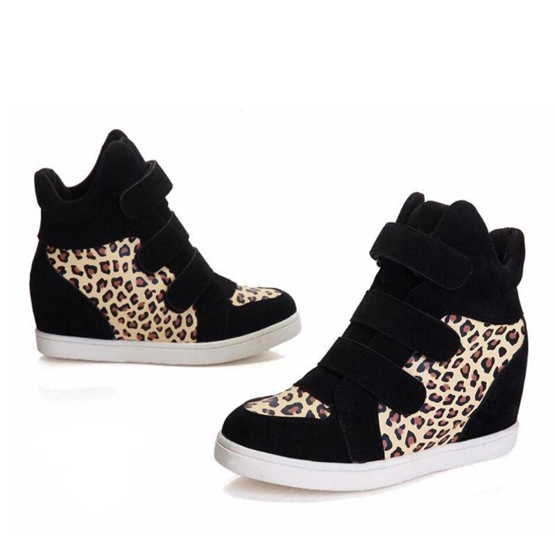 3e233eba7f7d Femmes Leopard Leopard Botas Bottes Étudiant red Chaude Et Leopard Boucle  Hiver Muffin Martin Chaussures Léopard ...