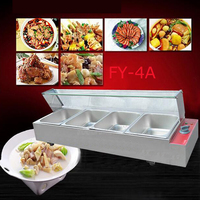 1PC FY 4A Commercial electric food processor and even cooking stoves of Food preservation machine quipment with 4 pots
