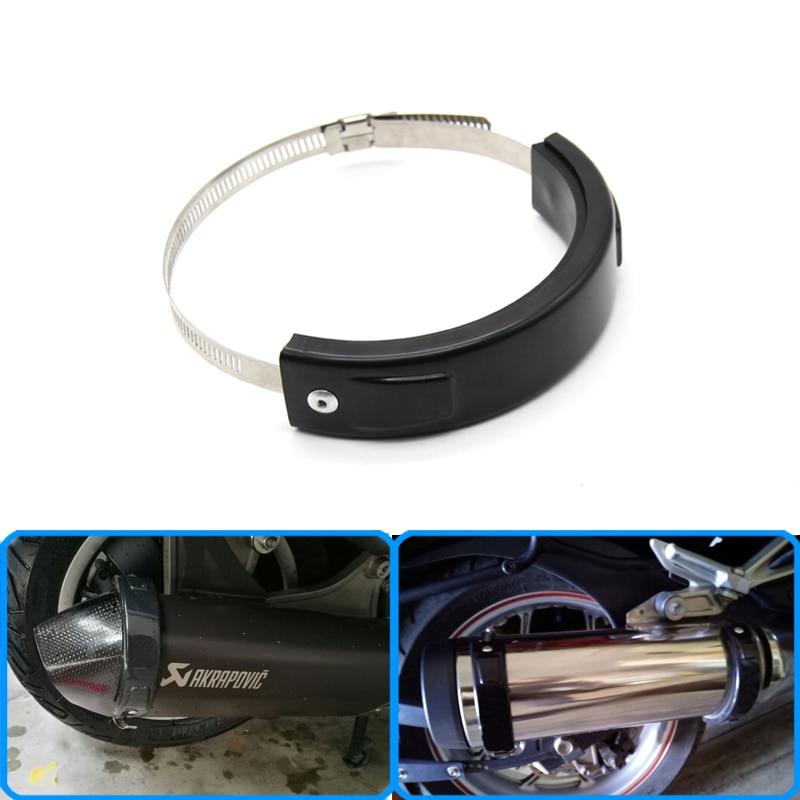Accesorios de motocicleta ajuste Universal 100 MM-140 MM Oval Protector de escape puede cubrir para YAMAHA FJR1300 YAMAHA MT-03 WR450F De taza de aceite para Yamaha dt125 xt600 fjr1300 tdm850 xmax300 ybr125 aerox yz250f r1 2004 dt yz250 mt03 raptor700 fz16 bws