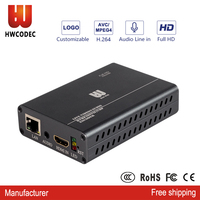 HWCODEC full 1080p hd h.264 HDMI HD live streaming mpeg4 encoder hdmi to ip live streaming hdmi encoder for youtube facebook