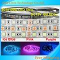 DC12V SMD 5050 led strip  flexible light 60LEDs/m, Ice Blue,Pink,Purple, 5m/lot
