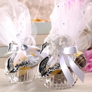 Swan Wedding Party prezent pudełka cukierków elegancki sprzyja uroczystości rocznicowe urodziny czekoladowe obejmuje pole dekoracji