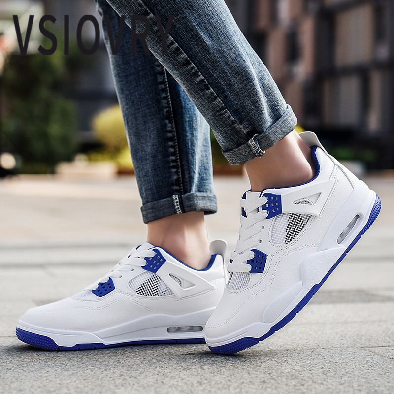 VSIOVRY 2018 Men Sneakers White Summer Soft Comfortable Leather Casual Shoes Spring Breathable Mesh Sneakers For Male Krasovki