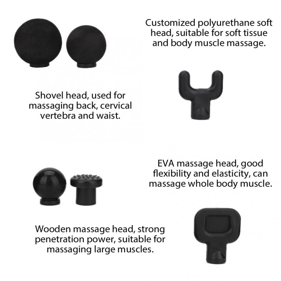Image 5 - Body Relaxation Fascia Massager Gun Replacement Head Muscle Massage Head Set-in Massage & Relaxation from Beauty & Health