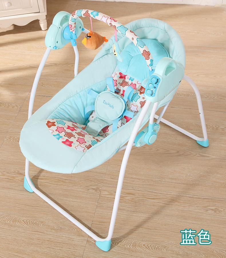 Mode bébé videurs balançoires pliable Portable électrique bébé chaise à bascule avec musique coffre-fort bébé panier de couchage - 5