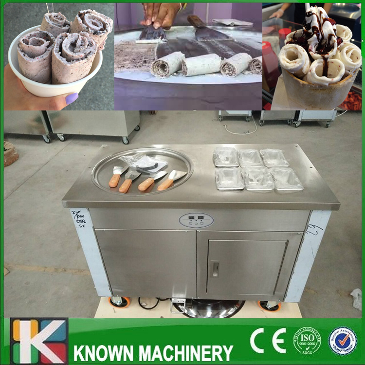 Big 450CM pan fry ice cream roll machine with import compressor and 6 fruit tanks Free shipping by sea фролов и ред океанография и морской лед oceanography and sea ice
