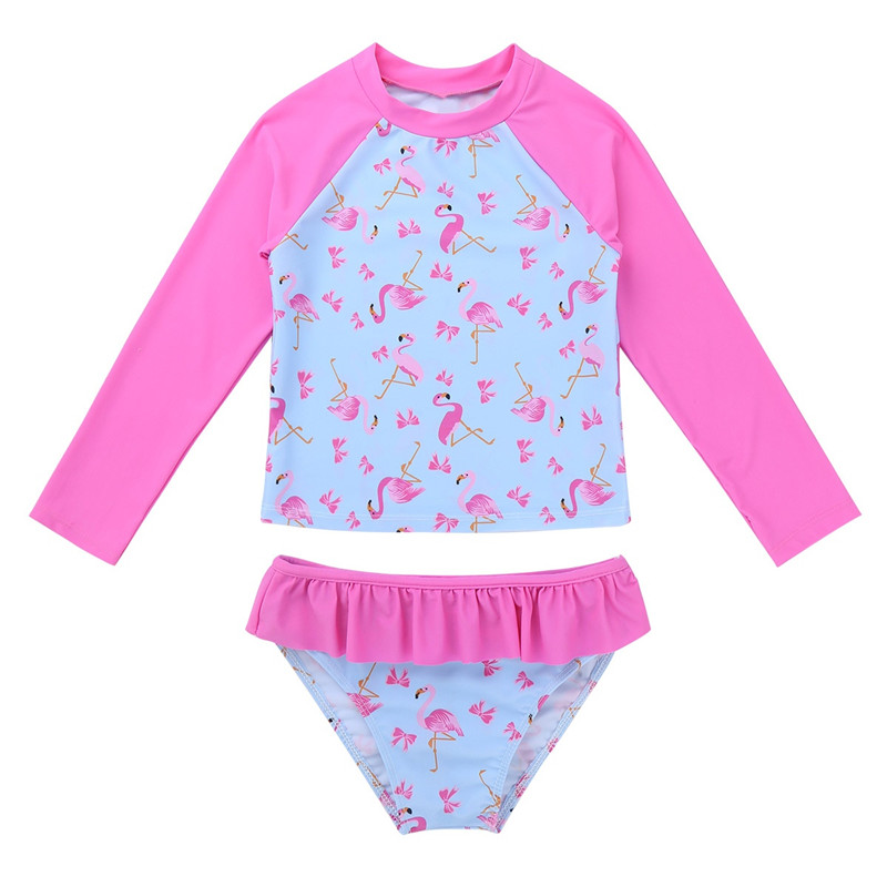 Wetsuit One-Piece Short Sleeve Beach Flower Flamingo Swimsuit Swimwear dPois Toddler Baby Boys Girls Rash Guard UPF 50
