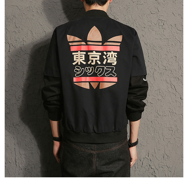 2018 Harajuku Japanese MA1 Male Bomber jacket Coat American College Students Outwear Baseball loose Outerwear for Men Woman