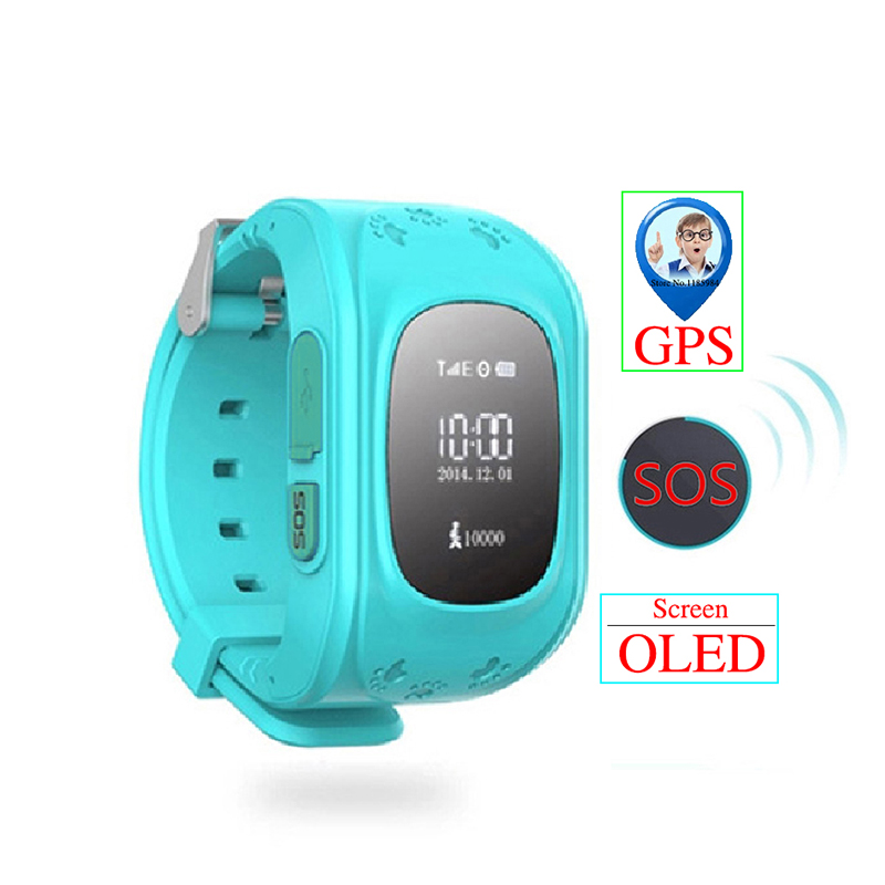 Baby Watch Tracker Monitor Anti-Lost Smart Kids Q50 Child GPS Android Locator IOS Sos-Call