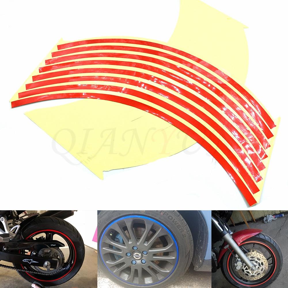 Motorcycle Styling Wheel Hub Tire Reflective Sticker Car Decorative Stripe Decal For Suzuki SV650 SV650S 99-09 DL650 V-STROM 600