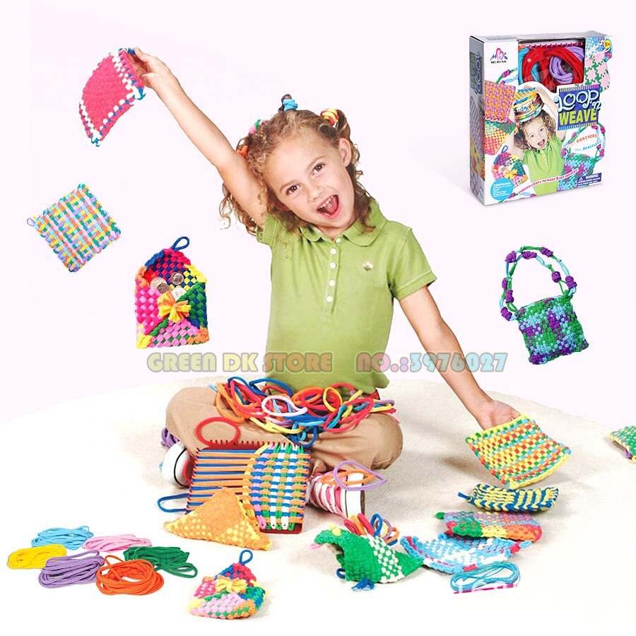 Kit de bricolage kit de tricot tissage boucles de métier à tisser tissage jouets pour filles cadeaux créatifs