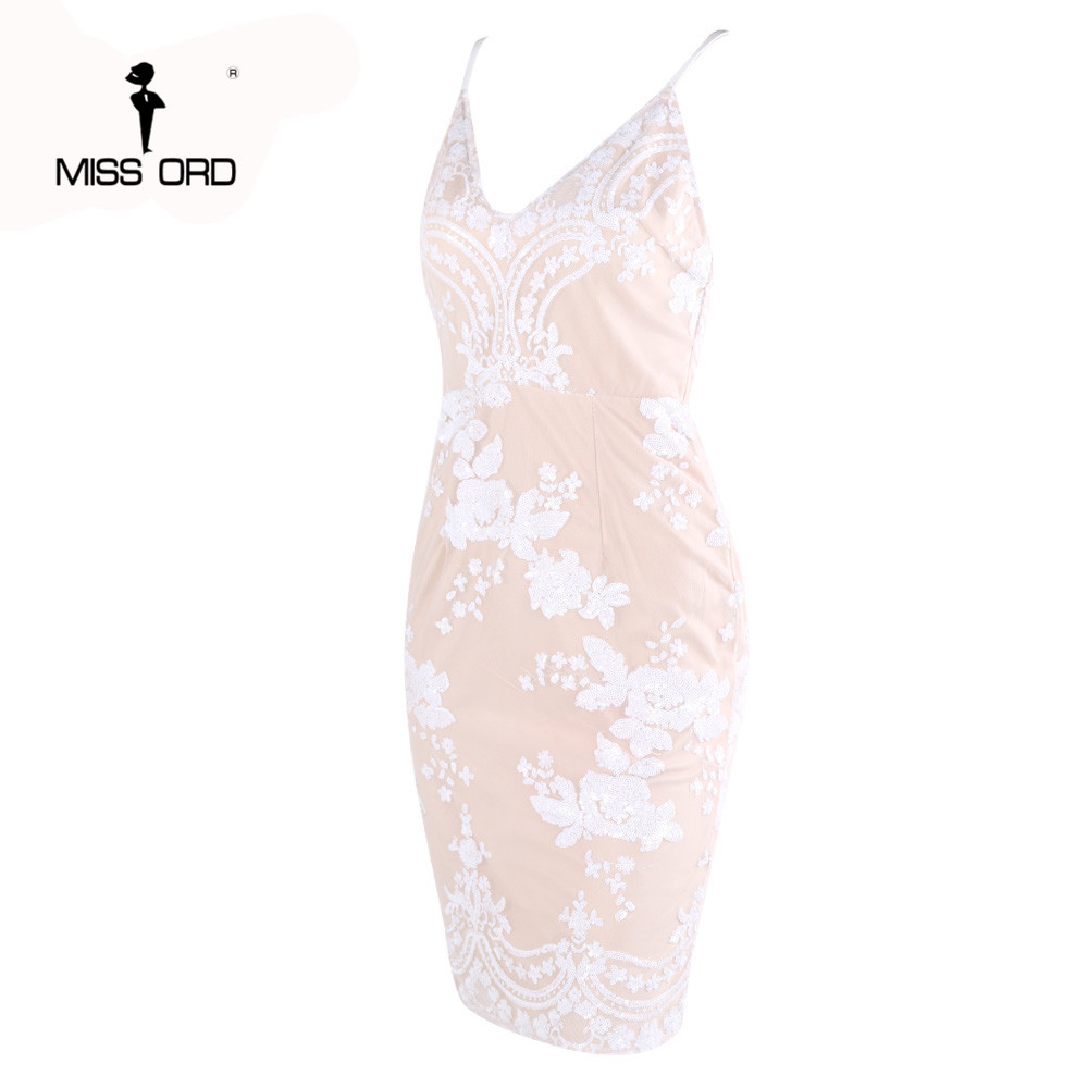 2019 cou Robe Ft3957 Livraison Halter Gratuite Missord Sans Sexy Sequin V Manches XaESxq