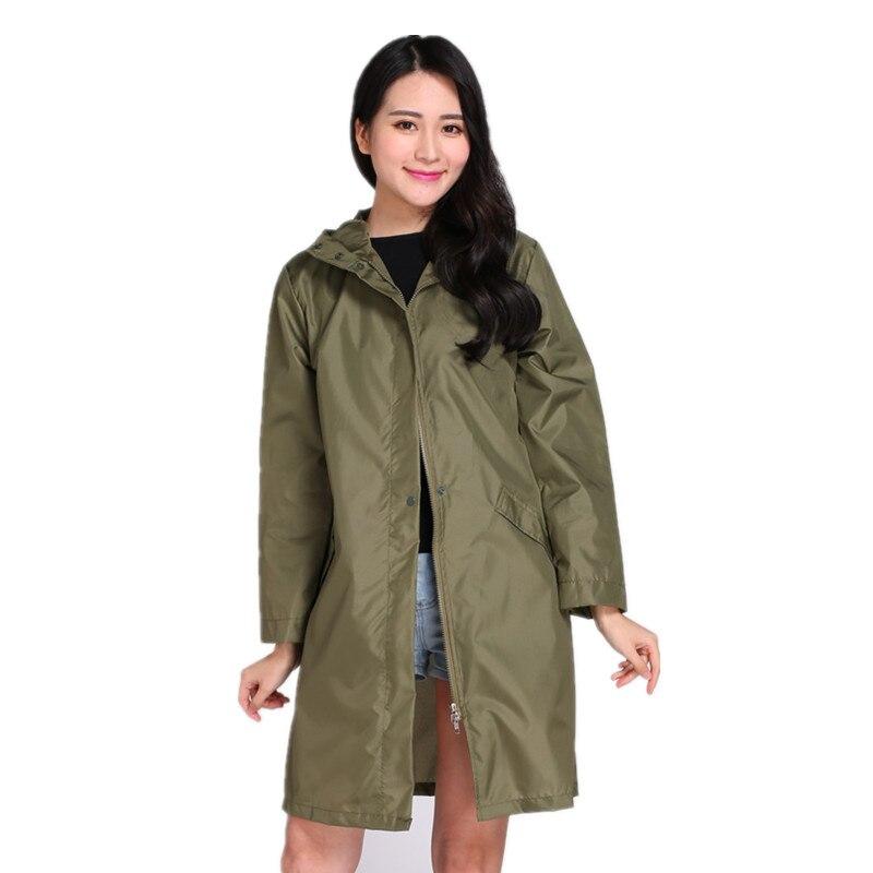 58c156027 Long Thin Raincoat Women Waterproof hood Light Rain Coat Ponchos Jackets  cloak Female Rainwear Chubasqueros Mujer