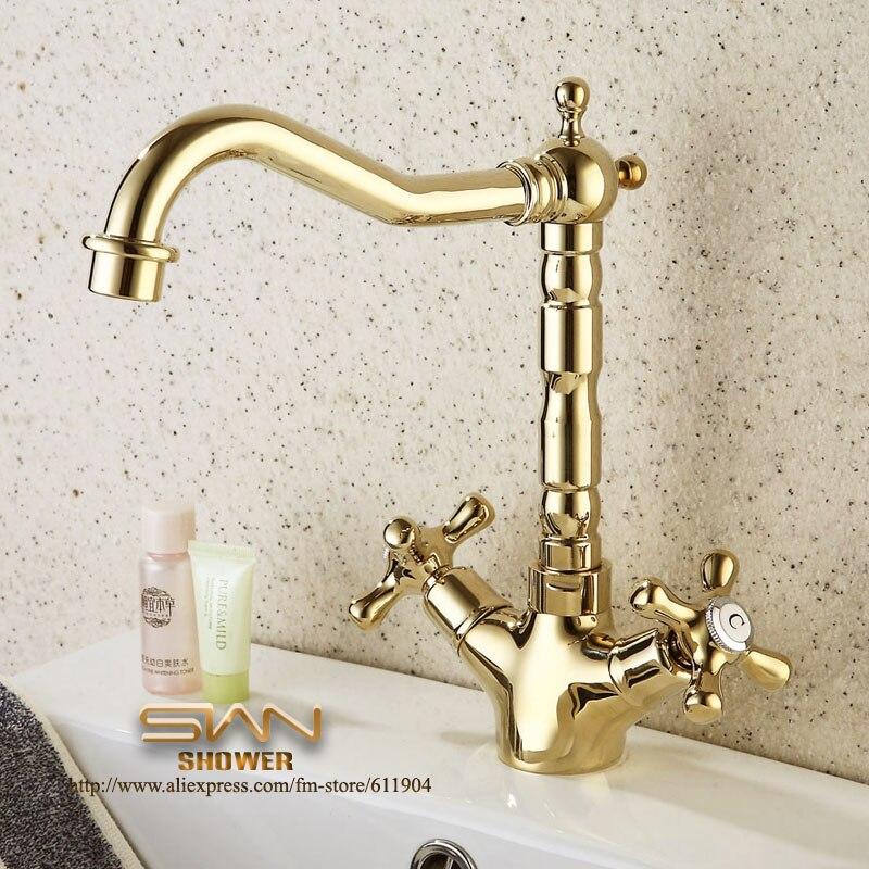 Oro colore 9 bagno rubinetto lavabo vessel bacino - Accessori bagno oro ...