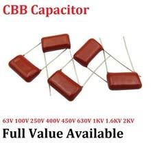 Condensador de película metalizada, 10 unidades/lote, CBB 400V 473J 10MM 0.047UF 47NF, 473J400V, capacitancia 400V473J 473
