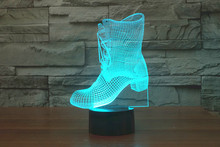 The new 7-color 3D USB creative Nightlight / LED lamp Cartoon Baby 121/ Free Shipping