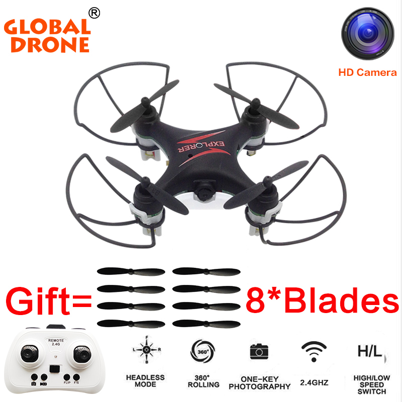 Global Drone GW009C 4 Channels MIcro Drone With Camera Quadcopter Dron Mini RC Helicopter Drones D
