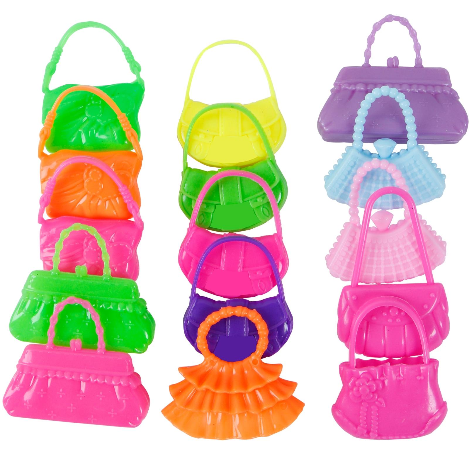 AMETUS 32 PCS Doll Accessories 10x Mix Cute Dresses 6X 4X Glasses 10x Shoes