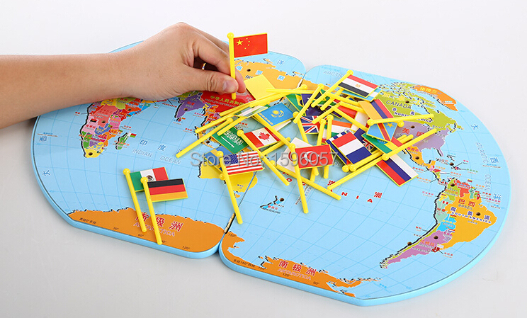 Wooden world map flag matching puzzle geography educational toy wooden world map flag matching puzzle geography educational toy gift for kids in geography from office school supplies on aliexpress alibaba group gumiabroncs Images