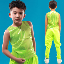 Spring summer Adult Kids Neon Dot Green Top Unisex performance clothing Silver Gold Red plaid thin Hip Hop Dance Vest