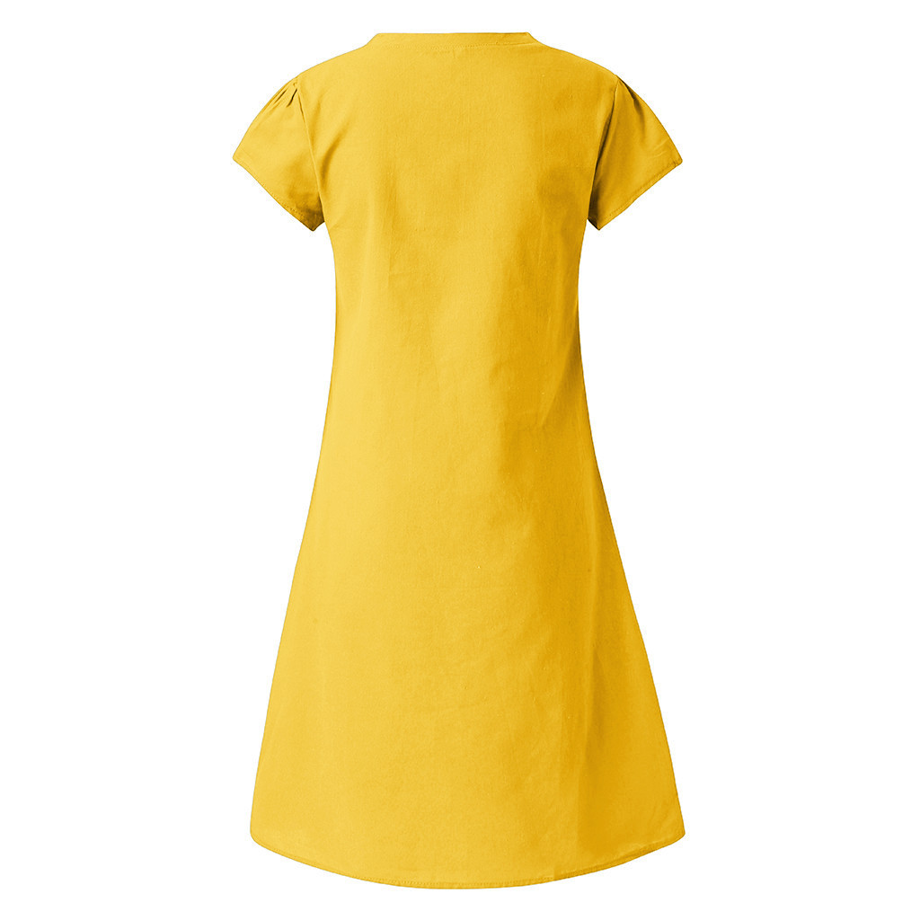HTB10w.dO3HqK1RjSZFgq6y7JXXaF Cotton And Linen women's clothing O-Neck summer dresses and sundresses Printed Plus Size Ladies dresses summer sukienka #G6