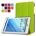 "Smart PU leather cover case stand folio cover case protective cover case for 2016 Acer Iconia One 8 B1-850 8"" tablet+free gift"