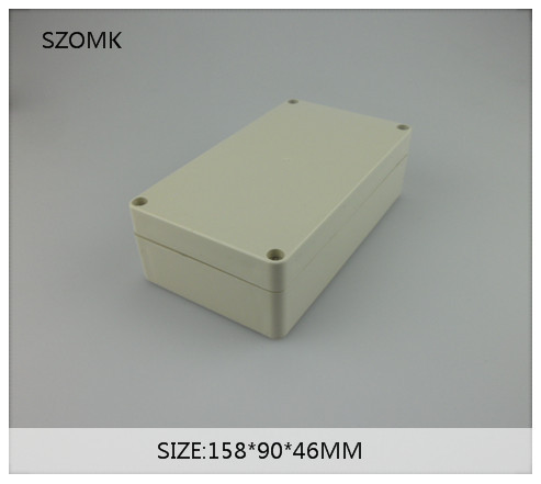 diy plastic enclosure for pcb instrument box switch case cover enclosure for electronics distribution box 158*90*46mm