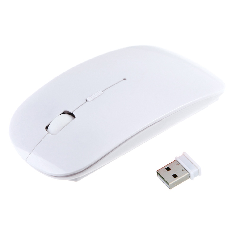 Ultra Thin USB Optical Wireless Mouse 2.4G Receiver Super Slim Mouse Cordless Computer PC Laptop Desktop 9