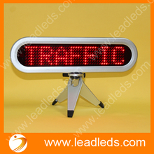 Pixels 7×41 LED Car Sign Commercial Lighting Moving Message Display For Car Advertising Red LED USB Programmable Display Board