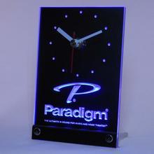 tnc0432 Paradigm Speakers Home Theater Table Desk 3D LED Clock
