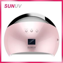 SUNUV SUN6 Smart Lamp Nail LED UV Lamp Dryer Metal Bottom LCD Timer Multicolors for Curing UV Gel Polish Nail Art Tools