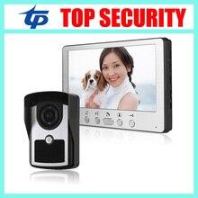 IP64 waterproof 7 inch color video door phone IR night version 16 rings 420TVL IR camera video door phone door bell system