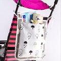Cotton baby bedding sets impressão carrinho de desenho animado saco de armazenamento doméstico garrafa brinquedo cama de bebê bolsa de fralda pequeno saco